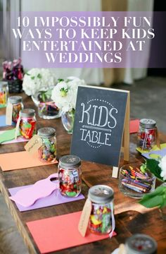 To make sure everyone has fun at your wedding, we're sharing our top 10 favorite ideas to keep even the tiniest of tots entertained!