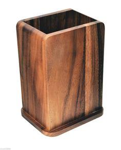 DAVIS AND WADDELL ACACIA UTENSIL HOLDER - Acacia Bamboo Wood - Kitchenware
