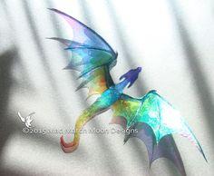 Dragon-Collier handgefertigt Regenbogen von MadMarchMoon auf Etsy