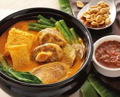 Kare-Kare or Philippine stew is one of the favorites from the long list of Filipino foods. It is usually prepared with peanut sauce with many vegetables, oxtail, offal and beef.
