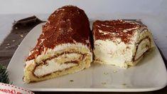 Bûche de Noël tiramisu élégante et savoureuse - Recettes Faciles Beaux Desserts, No Bake Desserts, Dessert Recipes, Chocolate Lasagna, Food Illustrations, A Food, Sweet Treats, Cupcake, Deserts