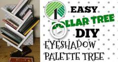 Diy Makeup Palette Holder, Diy Z Palette, Diy Makeup Stand, Magnetic Makeup Palette, Palette Shelf, Makeup Storage Dollar Tree, Dollar Tree Makeup, Diy Makeup Storage, Diy Eyeshadow