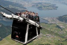 The Roofless Double Decker Aerial Cable Car - Switzerland