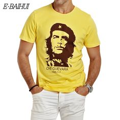 E-BAIHUI CHE GUEVARA summer o neck 3d print shirt men brand clothing cotton mens t shirts fashion 2016 hombre tops tee y033 * View the item in details by clicking the image