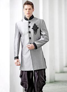 1. Cbazaar Magnificent Grey Dhoti Style