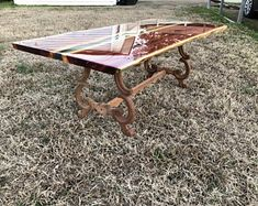 Beautiful Cedar/ blue, green, or clear resin/ on antique oak legs. Fabricated to desired dimensions when ordered. Coffee Table Size, Modern Coffee Tables, Pine Timber, Resin Furniture, Diy Rustic Decor, Modern Art Deco, Clear Resin, Picnic Table, Barn Wood