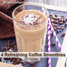 Enjoy these Refreshing Coffee Smoothie Recipes! #CartonSmart