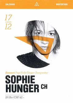 SOPHIE HUNGER - LIVE SALZHAUS WINTERTHUR - 2015 - ORIG. FLYER