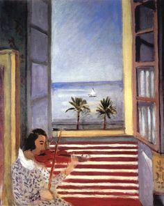 Young Woman Playing Violin 1923 Art Print for sale. Shop your favorite Henri Matisse Young Woman Playing Violin 1923 Art Print without breaking your banks. Henri Matisse, Matisse Kunst, Matisse Art, Matisse Pinturas, Matisse Paintings, Post Impressionism, Open Window, Art Moderne, French Artists