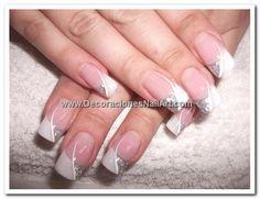 See more about wedding nails art, wedding nails and wedding manicure. Wedding Day Nails, Wedding Nails Design, Bridal Nails, Wedding Manicure, Gel Nail Art, Nail Manicure, Diy Nails, Nail Polish, Fancy Nails