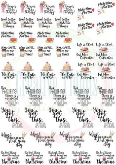 Printable Planner Stickers Randomly Themed Adulting