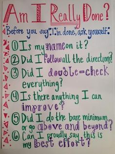 a great anchor chart to put right next to where your students turn in their work!