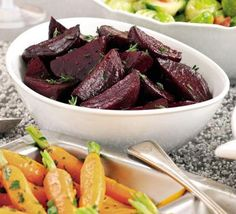 Beetroot recipes - BBC Good Food Roasted, boiled or pickled this vibrant root vegetable has an earthy, rich and sweet flavour which will bring a distinct colour to any dish. Bbc Good Food Recipes, Vegetarian Recipes, Cooking Recipes, Healthy Recipes, Yummy Recipes, Kos, Vegetable Side Dishes, Vegetable Recipes, Honey Roasted Parsnips