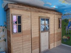 Outside view of classroom cupboards.