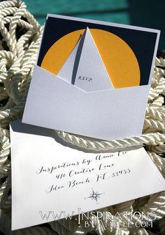Nautical Wedding Invitations by InspirationsbyAmieLe on Etsy, $50.00
