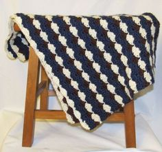 Blue-and-Brown-Baby-Blanket-29-5-x-40-Handmade-Crochet