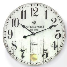 "WholeHouseWorlds Paris Fleur-De-Lis 22.4"" Wall Clock"