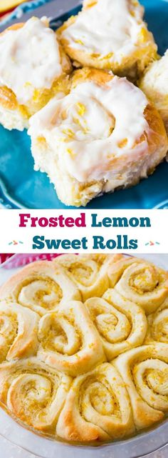 Lemon Sweet Rolls with Sweet Cream Cheese Frosting - these are so simple!