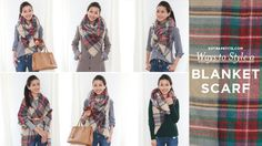 How to style / tie an oversized blanket scarf! With video instructions : )