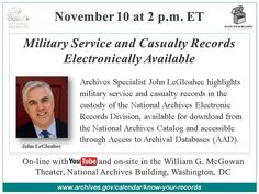 Military Service and Casualty Records Electronically Available