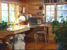 Would love to build this home office- wish I had carpentry skills