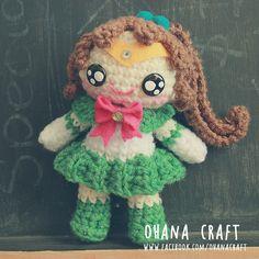 Sailor Jupiter inspired crochet doll https://www.facebook.com/OhanaCraft/