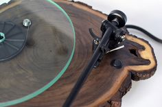 Turntables made from real Tree Trunks | iGNANT.de
