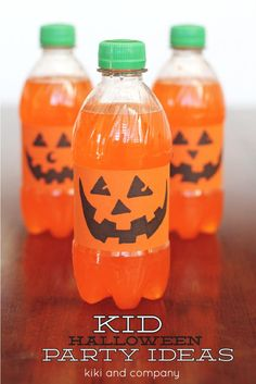 DIY Halloween Crafts : DIY Orange Halloween Pumpkin drinks