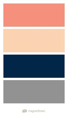 Maybe Coral and not peach Coral, Peach, Navy, and Classic Gray
