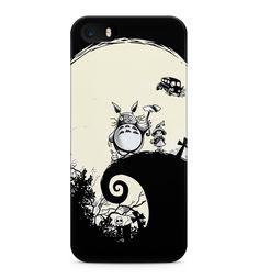 My Neighbor Totoro Jack Skellington Style Hard Plastic Snap-On Case Cover For iPhone 5 / iPhone 5s / iPhone SE. Material- Scratch resistant hard plastic. Type- Snap-on. Protection- Back and sides. Design- Printed all over. Compatible devices- iPhone 5 / iPhone 5s.