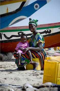 Mother and daugther in Sanyang, The Gambia