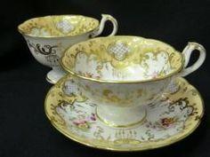 Early Victorian Ridgway tea & coffee trio