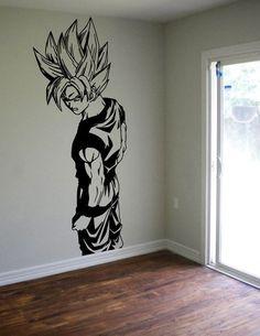Dragon Ball Z Goku Wall Decal Sticker Vinyl Decor Kids Room Manga Dragon, Dragon Ball Z Shirt, Boy Wall Art, Gamers Anime, Vinyl Decor, Anime Gifts, Wall Decal Sticker, Otaku, Geek Stuff