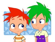 phineas and ferb in my style by isuzu9.deviantart.com