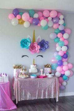 Diy Unicorn Birthday Party, Unicorn Birthday Parties, 1st Birthday Girls, Birthday Party Themes, Unicorn Birthday Decorations, Happy Birthday, Birthday Wishes, Birthday Ideas, Birthday Cards