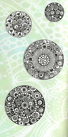Zentangle circle inspiration