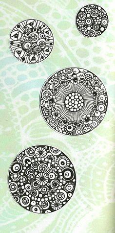 #Zentangle #circle #inspiration #doodle