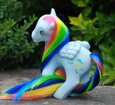 Blue Berry Basket My Little Pony G1 Rehaired by SajasCreations, $20.00