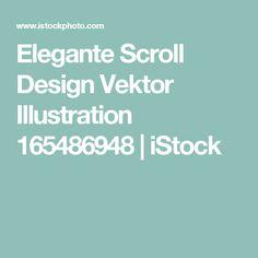 Elegante Scroll Design Vektor Illustration 165486948 | iStock