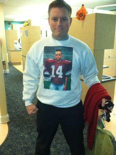 Dr. White sporting grandma's game day sweatshirt