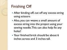 How to finish your brick