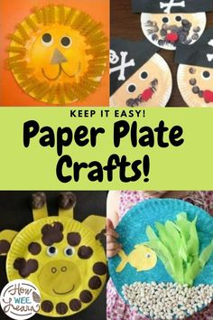 Nice and easy paper plate crafts for kids to make. These paper plate crafts are full of creativity and perfect for every occasion. Ideas for Fall paper plate crafts, spring, summer, winter, birthday parties, Halloween, Christmas, any holiday you might need! Paper Plate Crafts For Kids, Preschool Arts And Crafts, Creative Activities For Kids, Easy Arts And Crafts, Crafts For Kids To Make, Arts And Crafts Projects, Craft Activities, Toddler Activities, Kids Crafts
