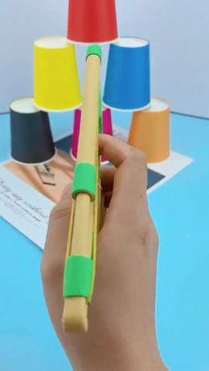 Diy Crafts To Do, Easy Paper Crafts, Paper Crafts Origami, Diy Crafts Hacks, Fun Crafts For Kids, Craft Activities For Kids, Diy Arts And Crafts, Cute Crafts, Instruções Origami