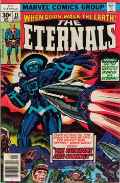For sale marvel comics eternals 11 jack kirby artwork story cover first appearance druig aginar comic book emorys memories. Comic Book Covers, Comic Books Art, Comic Art, Book Art, Marvel Comics Superheroes, Marvel Vs, Superman, Batman, Jack Kirby Art