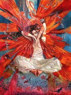 The Divine Feminine is full embodiment and presence, through the body, through the senses, through emotions, and primarily through pleasure. Sacred Feminine, Divine Feminine, Art Et Illustration, Illustrations, Art Inspo, Art Amour, Art Visionnaire, Goddess Art, Pop Surrealism