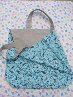 Ecofriendly reusable shopping tote by PunkyQuiltsAndMore