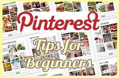 Pinterest Tips -- A tutorial guide for beginners.