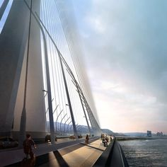 Zaha Hadid Architects gana concurso para diseñar nuevo puente de 960 metros en…