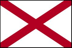"Illustration: state flag of Alabama. Source: Wikimedia Commons. Read more on the GenealogyBank blog: ""Alabama Archives: 81 Newspapers for Genealogy Research."" http://blog.genealogybank.com/alabama-archives-81-newspapers-for-genealogy-research.html"