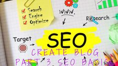 Create a Blog - Learn SEO BasicsSo now you've installed Wordpress or your blogging platform of choice, chosen a theme, written a few posts, and find that they are not showing up in Google searches.Why is that? SEO man. It's all about the SEO (Search Engine Optimization. Which basically means that you need to create your content keeping certain keywords and phrases in mind and then, sprinkling them throughout your posts.